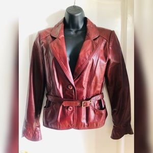 Wilsons Women's Red Leather Jacket
